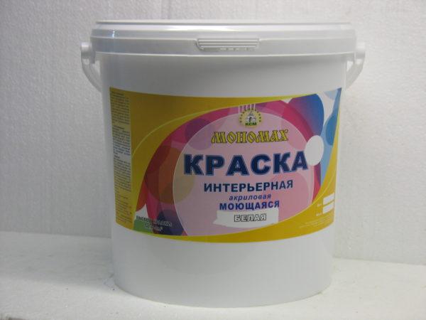 стойкая акриловая краска Мономах 40 кг